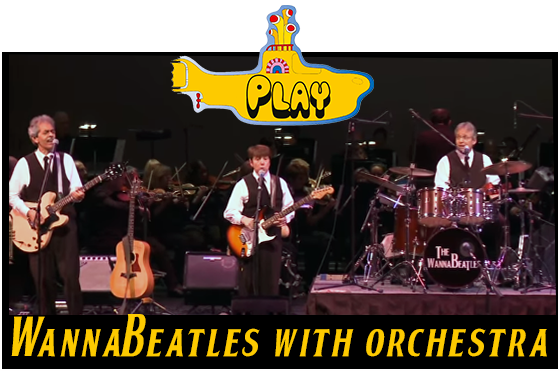 The WannaBeatles perform with the symphony orchestra Symphonicity